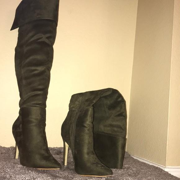 Glaze Shoes | Olive Green Knee High